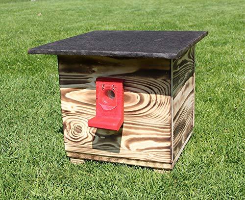 Garten und Holztrends Hummelhaus, Hummelkasten, Hummelhotel, Hummelpenzion mit Wachsenmottesperre, Insektenhotel, Bienenhaus,Insektenhaus,Bienen