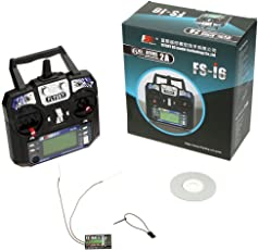 FlySky FS-i6 2.4G 6ch Transmitter and Receiver System LCD Screen for RC Helicopter by REES52.com