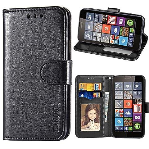 Microsoft Lumia 640 Hülle, LANOU Leder Schutzhülle Handyhülle Etui Silikonhülle für Microsoft Nokia Lumia 640 Case Cover –