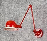 jixiamg Metall Wandlampe,Antik Wandlampe, Restaurant Korridor Aisle Cafe Wall Light [Energieklasse A++]Kreative einfache Nordic Eisen Bett antik Wandlampen mit keine Lichtquelle LED, rot, lang, mit Schalter