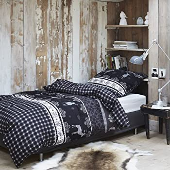 kaeppel biber bettw sche ski elch 155x220 cm 80x80 cm k che haushalt. Black Bedroom Furniture Sets. Home Design Ideas