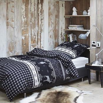 kaeppel biber bettw sche ski elch 155x220 cm 80x80 cm k che haushalt. Black Bedroom Furniture Sets. Home Design Ideas