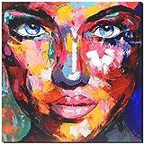 KUNST DRUCK Gemälde Leinwand modern abstrakt Bild 842 Portrait SIGNIERT 60x60
