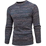Binmer(TM) Men's Slim Fit Shirt Autumn Winter Sweater Pullover Slim Full Sleeve Jumper Knitwear Outwear Blouse