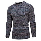 KPILP Herren Herbst Pullover Slim Jumper Gut aussehend Strickwaren Winter Warm Basic Pullover Outwear Bluse(Grau, XL)