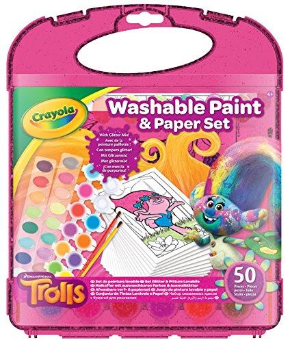Crayola 04-6936-E-000 - Trolls, Malkoffer mit auswaschbaren Farben