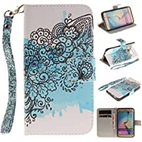 nancen – Cover per Apple Iphone 5/5S/Si (4,0 pollici), Custodia Custodia in pelle PU portafoglio Wallet Case Bookstyle (Double Dragon Mobile)