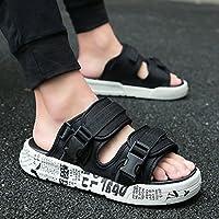 fankou Verano Antideslizante Zapatillas Zapatos Sandalias de Playa Que Son Frescas en Verano y Moda Ocio y Marea,39,901 en Blanco y Negro
