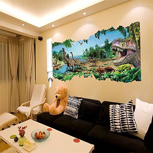 Jurassic park dinosaur wall stickers 50 x 90cm removable vinyl wall decal multi styles decorative waterproof sticker