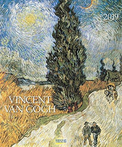 Vincent van Gogh 203919 2019: Kunstkalender mit Werken des Künstlers Vincent van Gogh. Großer Wandkalender mit Meisterwerken der modernen Malerei. Format: 45,5 x 55 cm, Foliendeckblatt -