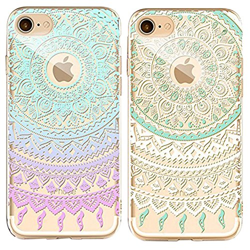 Doppel-Pack (Packung mit 2) iPhone 6/6S Plus Hülle, iPhone 6 6S Plus Silikon Hülle [Kratzfeste, Scratch-Resistant], Sunroyal® iPhone 6 6S Plus(5,5Zoll) Hülle TPU Case Schutzhülle Silikon Crystal Kirst Pattern 05