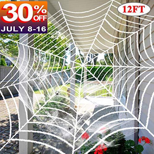 Sixone Halloween Spider Gruselige Halloween Party Riesen Spider Gruselige Dekoration Spukhaus Requisite Indoor Outdoor Yard Decor Art Deco 1-Black & White Spider Web