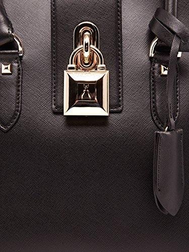Patrizia Pepe Lock Fly borsa tote pelle 29 cm Black