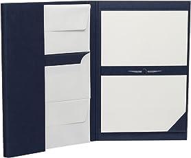 Rössler 1024831009 - Paper Royal - Briefpapiermappe DIN A4/DL, 25/25, blau/weiß gerippt