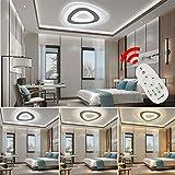 VINGO® 24W LED Deckenleuchte LED Deckenlampe LED Innenleuchte Extrem flach Beleuchtung Modern Wohnzimmerleuchte Energiesparende Dimmbar mit Fernbedienung