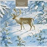 Caridad tarjetas de Navidad por museos y galerías. Ciervo en una nieve limpieza. Soporta: British Heart Foundation, Marie Curie, la mente, NSPCC y vivienda. Tamaño de la tarjeta: 172mm X 125Mm. Pack de 5tarjetas y sobres (..