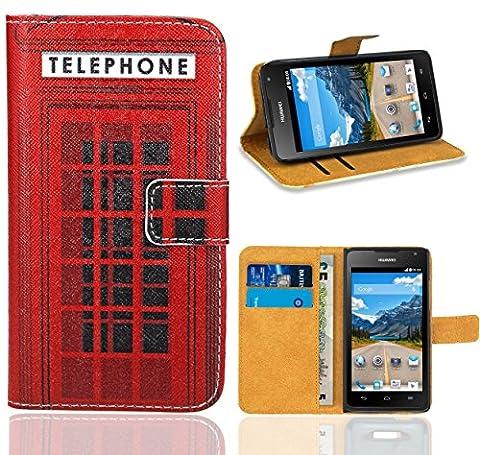 Huawei Ascend Y530 Handy Tasche, FoneExpert Wallet Case Flip Cover