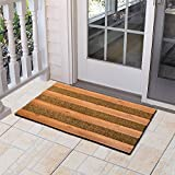 JIUZHOUCAI Anti-slip mats Simple mosaic mats Outdoor square door mats Entrance doors Balcony entrance mats,45x75cm,rice brown