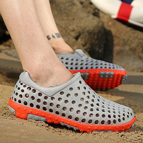 Eagsouni® Herren Strandschuhe Wasserschuhe Clogs Schuhe Badeschuhe Grau