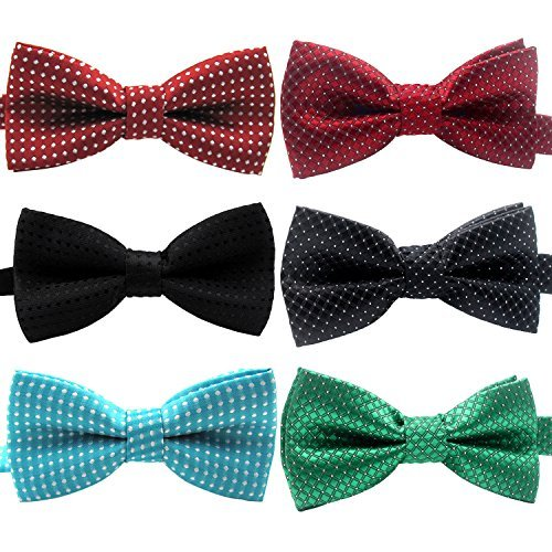 hollihi Handarbeit Liebenswürdig, PET Bow Ties – 6er Pack verstellbar Polka Dots Bowties Hundehalsband Krawatten Kitty Puppy Pflege Zubehör für Doggy Katze, Halsumfang ()