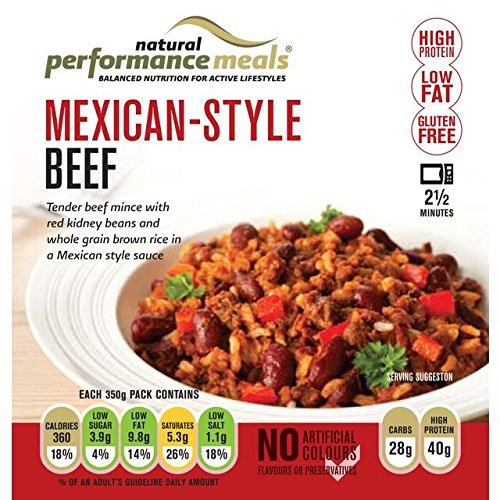Performance Repas Style Mexicain de boeuf maigre Avec 350g de riz brun