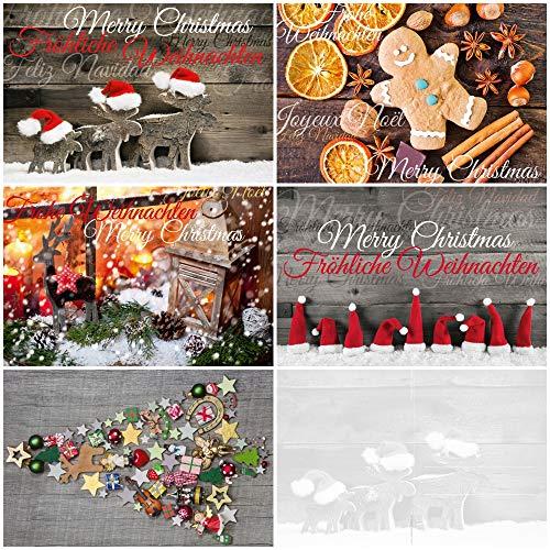 """50 Weihnachtskarten""""NOSTALGIE II"""": 50-er Postkarten-Set (5 Motive x 10 St. = 50 St.) nostalgisch - ein Nostalgie-Weihnachtspostkarten-Set im Retro/Vintage-Stil von EDITION COLIBRI (10824-28)"""