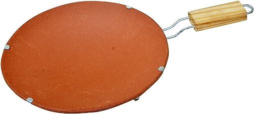 Om Craft Villa Handmade Mitti Cool Terracotta Clay Tawa Earthen Products Clay Chapati Tawa With Stand