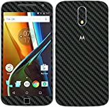 #6: GadGetsWrap Moto G4 Plus Black Carbon Skin for Front and Back.