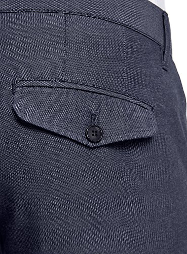 oodji Ultra Herren Klassische Hose mit Ziertasche Blau (7510O)