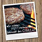 20 Servietten Burger Grill/Essen/Grillparty/Sommer 33x33cm