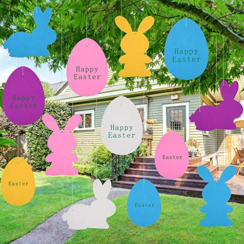 stern Hängedeko Filz Ei Ornament Hase Girlande für Party Ostern Rasen Dekoration ()