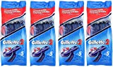 4 PACKS GILLETTE DISPOSABLE RAZOR 20 razor blades Brand new