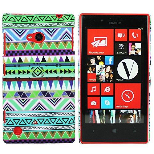 Heartly Aztec Tribal Art Printed Design Retro Color Armor Hard Bumper Back Case Cover For Nokia Lumia 720 - Nature Green  available at amazon for Rs.149