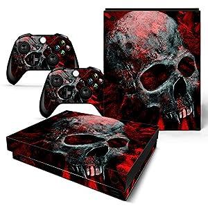 Microsoft XBOX ONE X Skin Design Foils Aufkleber Schutzfolie Set – Vampire Skull Motiv