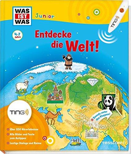 Produktbild bei Amazon - Was ist was Junior: Entdecke die Welt! Kinderbuch ab 4 Jahren zu lesen: Kontinente, Länder, Kulturen (Antippen, Spielen, Lernen!)