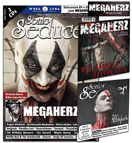 Sonic Seducer 10-14 mit Megaherz-Titelstory + 2 CDs mit über 85 Min. Gesamtspielzeit, darunter eine exkl. EP zum Megaherz-Album Zombieland + exkl. ... Luna Special, Bands: Letzte Instanz u.v.m.