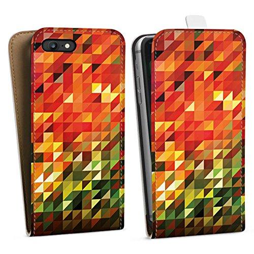 Apple iPhone X Silikon Hülle Case Schutzhülle Kristalle Herbst Abstrakt Downflip Tasche weiß