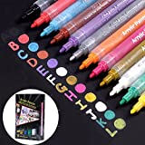 SAYEEC Acrylic Paint Marker Pens for Rock Painting Mug Design Ceramic Glass Metal Wood Fabric Canvas Mother's Day Gift DIY Craft (12 Pack)