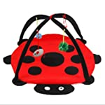 Pet Cat Bed Cat Play Tent Toys Mobile Activity Playing Bed Pad Cat Blanket House Pet Furniture Cat House With Ball