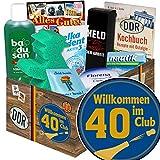 Wilkommen im Club 40 - Geburtstag 40 Freundin - DDR Geschenkbox Pflege