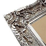 Großer Bilderrahmen Barock 75×85 / 50×60 cm Silber (Antik) Im Retro-Vintage look. In Handarbeit hergestellt. (Foto-Rahmen) Idealer Gemälde-Rahmen für Ausstellungen STAR-LINE® - 3