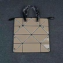ZCM Nuova borsa femminile Variety Cube Folding Bag Geometric Lingge Stitching Handbag Diamond Shoulder Bag- 4 colori Opzionale ( Colore : Albicocca )
