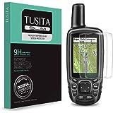 TUSITA Protector Pantalla Compatible con Garmin GPSMAP 62 62s 62st 62sc 62stc 64 64s 64st 64sc 64x 64sx 64csx 65 65s - (2 Uni