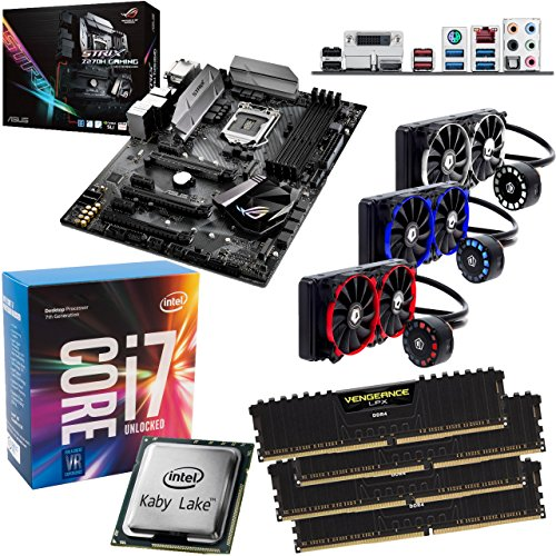 Affordable INTEL Kaby Lake Core i7 7700K OC 5.0Ghz CPU, ASUS ROG Strix Z270H Gaming Motherboard & 32GB 3200Mhz Corsair DDR4 RAM & ID Cooling FrostFlow 240mm Liquid Cooler OVERCLOCKED Pre-Built Bundle Online