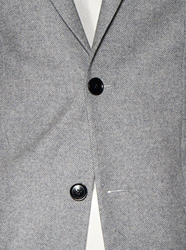 Filippa K Herren Blazer Rick Heringbone in Grau Gemustert 1451 lt. grey melange