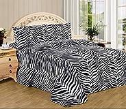 Trois Con 100% Cotton Bed Sheet Set 3 Pieces 400 Thread Count Egyptian Cotton Super Soft Sheet 15 inch Fitted Bedding Set De