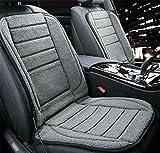 KRISMILEN Cojín de calefacción de coche de felpa 12V 24V anit-slip Cojín de invierno caliente de asiento individual , A