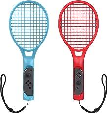 CHOETECH Tennisschläger für Nintendo Switch(2 Stücke), Tennis Racket für Joy Con Controllers, Mario Tennis Aces Spiele