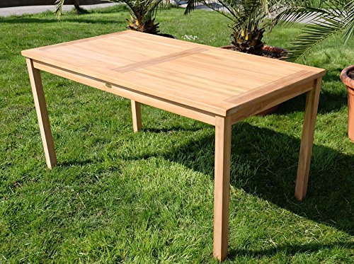 TEAK XL Holztisch 120x70cm Gartenmöbel Gartentisch Garten Tisch Holz Sehr  Robust Modell: ALPEN Von AS