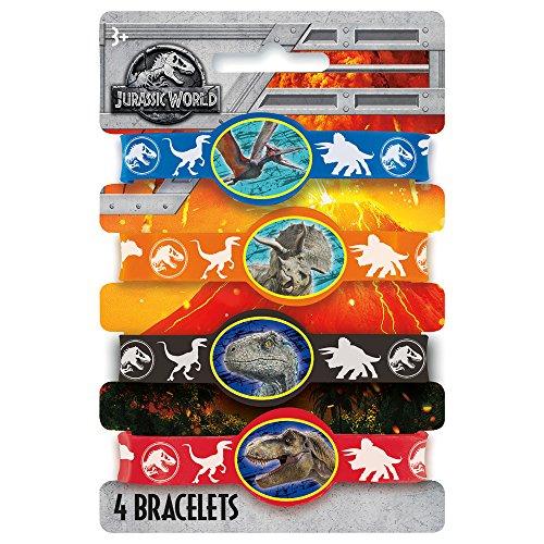 Unique Jurassic World Rubber Stretchy Bracelets [4 per Package]